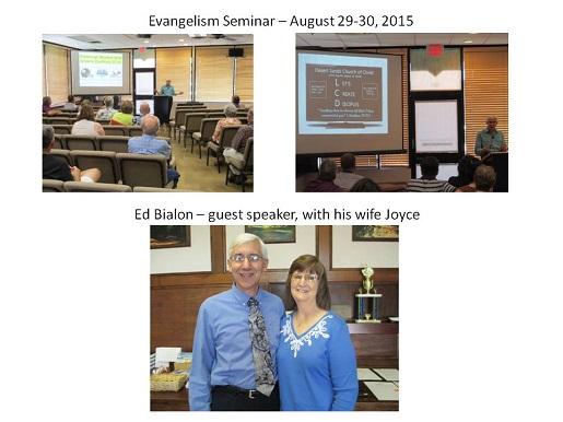Evangelism Seminar August 2015