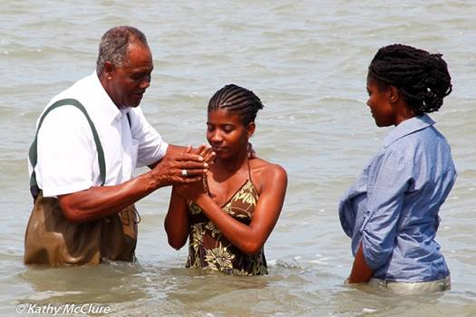baptize in cold water